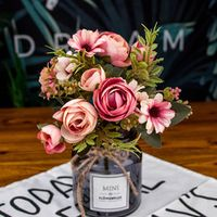 kurisuta Vintage Camellia Rose Wedding Decoration Vase