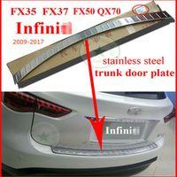 Woo bumper sill protector rear trunk boot scuff plate for Infiniti QX QX70 FX