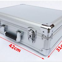 Tricases Aluminum Tool suitcase toolbox password File Impact resistant safety case