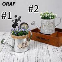 ORAF Vintage Removable Iron Metal Buckets Flower Pot Plant