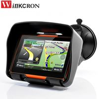"winkcron Best 4.3"" Motorcycle GPS Navigation IPX7 Waterproof Bluetooth Car"