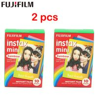 2pcs Origiinal Fujifilm Instax Mini Instant Cartoon Film Rainbow 2 packs for polaroid