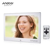 "Andoer 10"" LED 720P Video Music Calendar Clock TXT Player 1024*600 Metal"