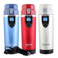easyway 12V/24V Portable 350ml Auto Heating Cup Adjustable Temperature Car Mug
