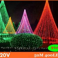 sparkmate 50m 9 colors led string light 400leds wedding partying xmas christmas tree