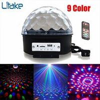Litake Led RGB Upgrade 9 Color Bluetooth with Music Crystal Magic Effect Ball DMX