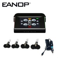 EANOP Solar TPMS LED Display Tire Pressure Monitoring System Real time Alarm BAR/PSI