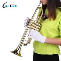 SLADE High Quality Trumpet Bb B Flat Brass with Mouthpiece Gloves Musical Instruments