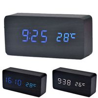 Wooden temperature electronic sound control digital display