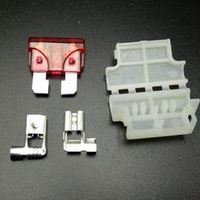 5set Auto Standard Middle Fuse Holder with fuse Truck ATC/ATO Blade for Car Boat