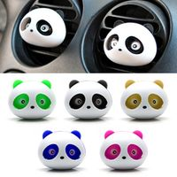 sikeo Car Styling Air Conditioning Vent Air Freshener Outlet Perfume Cute Panda Eyes