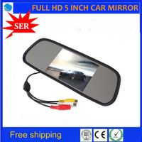 "SARYPEEN 5"" inch TFT LCD Rearview DVD Mirror Monitor for Car CCD Rear View Cameras"