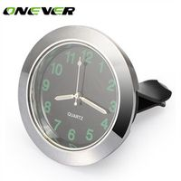 Onever Universal Air Vent Quartz Auto Interior Watch Luminous Stick-On Clock
