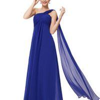 C.V Chiffon Maternity Bridal Formal Dress One Shoulder Long Design Bridesmaid Dress Sister Dress Plus Size Long Chiffon Dresses