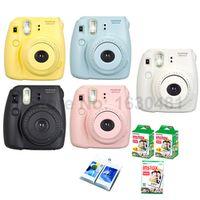 Fujifilm Instax Mini 8 Camera + 50PCS Sheet Fujifilm Fuji Instax Mini White film for Mini 8 25 Yellow Blue White Black Pink