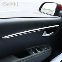 IMTFOO 4PCS STAINLESS STEEL INNER DOOR TRIM DECAL STRIP STICKERS FOR KIA RIO K2