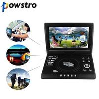 Powstro DVD Player 9.8 inch LCD Display 270 Degree Totatable Swivel Screen Portable