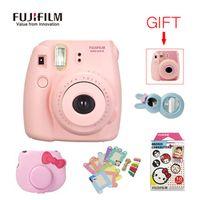 Fujifilm Instax Mini 8 Camera + 10 Sheets Film + Camera Bag + Close Up Lens + 10 * Photo Frame + 10 * clip + Free Gift Stickers