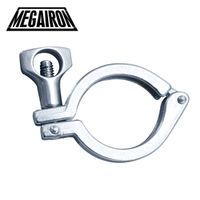 "MEGAIRON 1.5"" Stainless Steel SUS316 Sanitary Single Pin Tri Clamps Clover for 50.5mm"