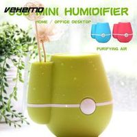 Vehemo 220ml Vase Mist Maker Humidifier Office Diffuser Car Auto Air Purifier Mini