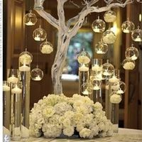 O.RoseLif 12PCS Hanging Glass Candle Holder Home Decor
