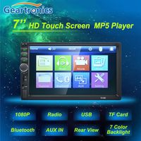 Geartronics 2 Double Din 7018B MP5 Player 7 Inch Touch Screen Auto Car MP4 Video