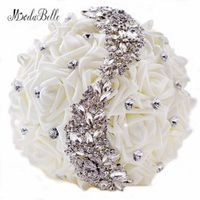 modabelle 2016 Swarovski Crystal Wedding Bouquets Beaded