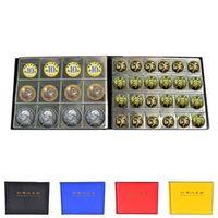180 Coin Holder Plastic Coin Holders Storage Collection Money Album Case PU
