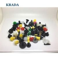 KRADA 200Pcs Bumper Clips Retainer Car Fastener For BMW e46 f10 e90 e60 f20 e39 x3