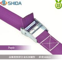 1pcs 5cm * 12Meters Metal Cargo Lashing Polypropylene Webbing Strap, Hold Ratchet Tie Down with Cam Buckle Winch Strap