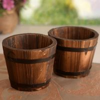 BESTIM INCUK 1PC Wooden Ornamental Rustic Small Barrel