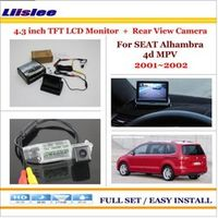 "Liislee For SEAT Alhambra 4d MPV 2001~2002 4.3"" TFT LCD Monitor + Car Rearview Back Up Camera = 2 in 1 Car Parking System"