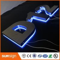 shsuosai 3D LED Backlit Letter Business Signs indoor