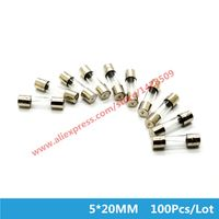 100 Pcs Glass Fuse 5*20MM Fast Blow 1A 2A 3A 4A 5A-30A 5mm*20mm 250V Electrical Auto