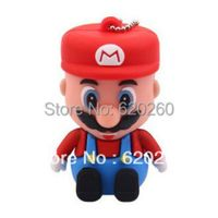Free shipping,New arrive Super Mary, Genuine cartoon super mario 2GB/4gb/8gb/16gb/32gb usb 2.0 memory pen disk thumb/drive/gift
