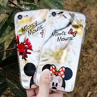 XINKSD Cute Cartoon Minnie Mirror Silicone Cases for iPhone X Case for iPhone 7 8