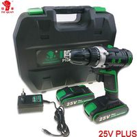 25V power tools Cordless electric Drill 2 Batteries Mini electric drilling