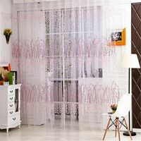 Home Wider 1 PC Tulle Door Window Curtain Drape Panel Sheer Scarf Valances oct107 Drop Shipping
