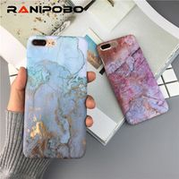 Ranipobo 3D Artistic Marble For iPhone X XS XR XS Max 6 6S 7 Cases For iPhone 8 Plus