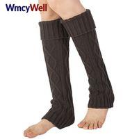 WmcyWell 1 Pair Winter Women's Long Knee High Crochet Boot