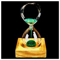 MEOF glass powder sand iron flowering magnetic hourglass