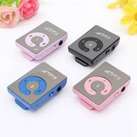 Mirror Portable MP3 Player Mini Clip MP3 Player With USB Cable Earphone Clip Sport MP3 Music Player With Micro TF Card Slot
