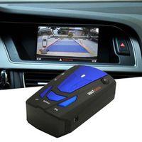 albabkc Blue/Red 360 Degrees Car 16 Band Voice Alert V7 Security Speed Radar Detector