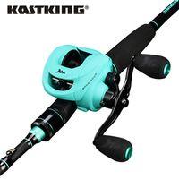 KastKing Spartacus Fishing Reel Combo 12BBs Dual Brake Baitcasting Reel Fishing Rod