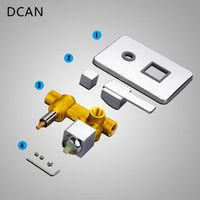DCAN Copper Concealed Shower Switch Valve Hot & Cold 2 Functions Shower Mixer Valve Control Switch Bathroom Wall Mounted Faucet