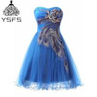 In Stock Short Exqusite Homecoming Dresses Cheap Gorgeous Appliques Grade Graduation For Prom Party Girls Gown