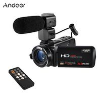 Andoer HDV-Z20 1080P Full HD WiFi Digital Video Camera with External Microphone