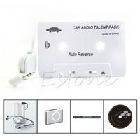 OOTDTY Cassette Car Stereo Audio Tape Adapter 3.5mm Aux For iPod iPhone MP3 CD Player