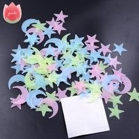 100Pcs Star Moon Energy Storage Fluorescent Wall Stickers