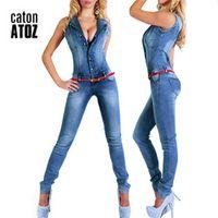 youaxon catonATOZ 2043 Sleeveless Jumpsuit Sexy Women